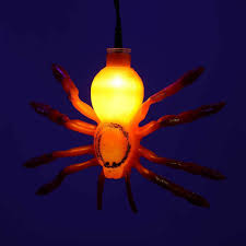 multi colour spider icicle lights with timer halloween decoration