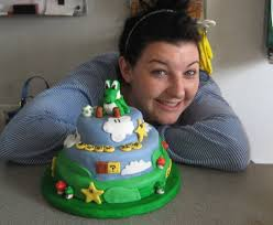 making super mario yoshi birthday cake 6 steps with pictures
