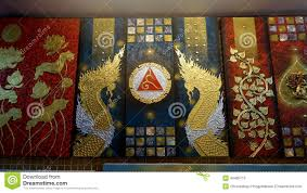 thai painting modern art editorial stock photo image 49485713