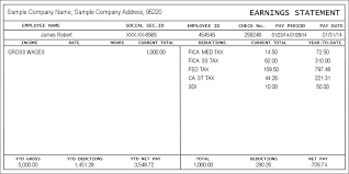 Excel Pay Stub Template Free Pay Stub Template Forms Fillable Printable Sles For Pdf