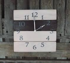 rustic pallet clock primitive wood clock shabby chic clock
