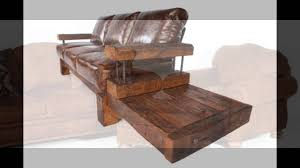 Distress Leather Chair Rustic Leather Sofa Youtube