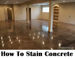 Stain Concrete Patio Yourself How To Stain Concrete Diy Home Improvement Make Your Boring