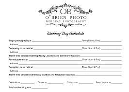 wedding day timeline worksheet tbrb info
