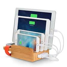 laptop charging station laptop world newest upgraded merit bamboo 5 port usb charging