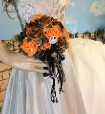 jack skellington wedding bouquet nightmare before christmas unique