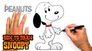 how to draw snoopy peanuts youtube