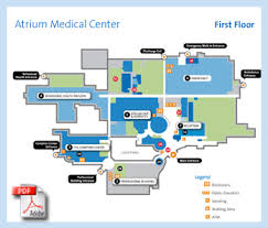 campus building and outpatient location maps at atrium medical center