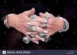 large silver rings images Children 39 s author jacqueline wilson wearing her large silver rings jpg