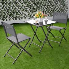 Patio Furniture Bistro Set - 3 pcs bistro set garden backyard table chairs outdoor patio