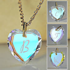 heart necklace wholesale images Wholesale initial heart pendant necklace beautiful swarovski jpg