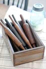 vintage style enamelware canister set