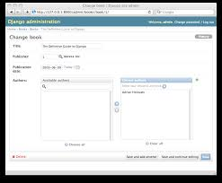 chapter 6 the django admin site u2014 django book 0 1 documentation