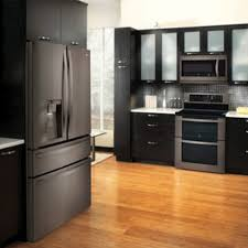 what color cabinets match black stainless steel appliances why are black stainless steel appliances so popular