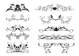 10 floral ornamental border vectors free vector