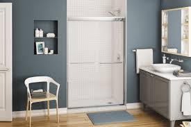 sliding shower screen for alcoves kameleon maax bathroom