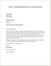 workforce reduction workforce reduction employment termination letter writeletter2 com
