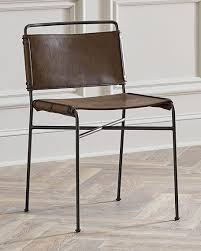 Leather Dining Chair Nicholas Leather Dining Chair Neiman