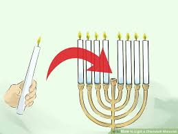 hanukah candles how to light a chanukah menorah 15 steps with pictures