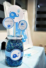 Centerpieces For Baptism For A Boy by Cute Blue Elephant Dessert Table Boys Christening Dessert Table