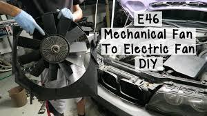 2003 bmw 325i radiator fan bmw e46 mechanical fan to electric fan diy youtube