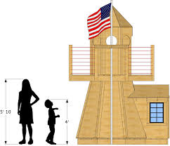 Lighthouse Floor Plans by Little Lighthouse Playhouse Plan 80ft Wood Plan For Kids