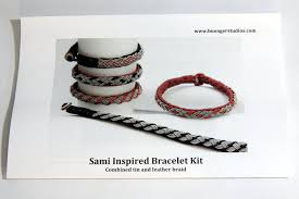 bracelet braid kit images Bracelet kit with tin and leather braid buenger studios jpg