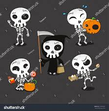 Halloween Skeleton Pattern by Halloween Skeleton Vector Cartoon Illustration Stock Vector