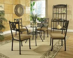 impressive round glass kitchen table glass round kitchen table