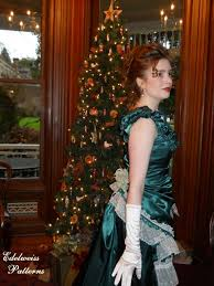 a victorian bustle christmas gown butterick pattern 3012