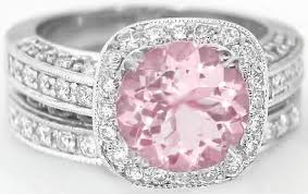 pink wedding rings images 2 90 ctw light pink round sapphire and diamond halo engagement jpg