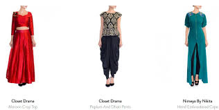 buy indo western dresses online for newly wed brides