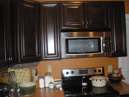 Dark Espresso Kitchen Cabinets by Small Modern Kitchen Design With L Shaped Wooden Cabinets
