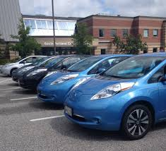 nissan leaf dc fast charge ev dc fast chargers installed in south portland ribbon cutting