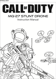 Codqdrmq27 Call Of Duty Mq 27 Stunt Drone User Manual Call Of Duty Black Ops Coloring Pages