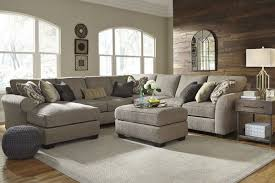 Sofa With Ottoman by Ashley Pantomine Driftwood Sectional Sofa With Ottoman