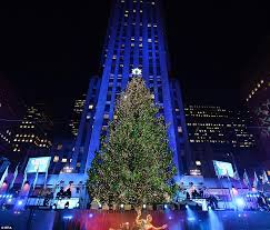 rockefeller center christmas lights turned on with help from