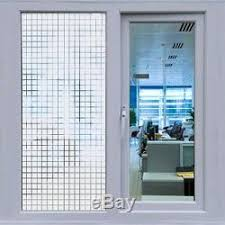 Window Decor Film White Square Block Frosted Window Decor Privacy Home Diy Vinyl