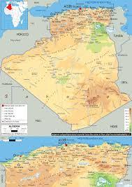 tunisia physical map physical map of algeria ezilon maps