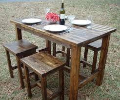 patio table and chairs bar height patio table set countryside