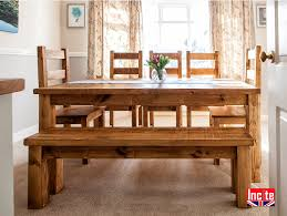 plank farmhouse kitchen table handcrafted by incite