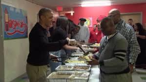 president obama serves thanksgiving dinner cnn