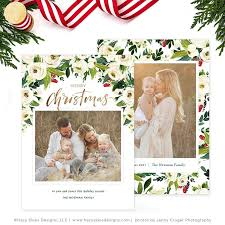 christmas photo card christmas card template photography template