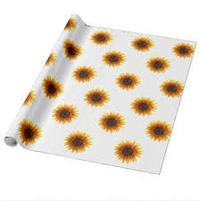 sunflower wrapping paper wrapping paper sunflower wrapping papers