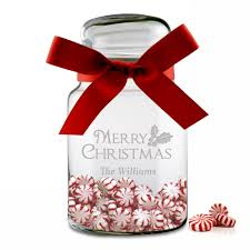 personalized christmas christmas candy glass jar
