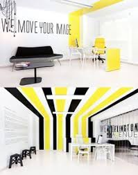 Conference Room Decor Black And Yellow Abn Headquarters Office Interior Conference Room