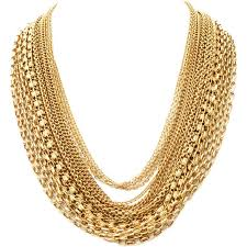 best gold chain necklace images Trifari 18 strand gold chain necklace at 1stdibs golden chain jpg