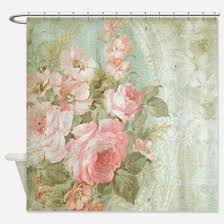 shabby chic shower curtains shabby chic fabric shower curtain liner