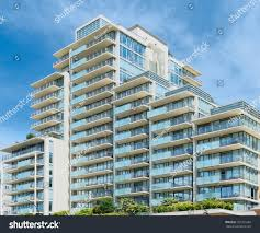 condominium apartment building asymmetrical stairstep architecture
