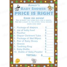 price is right baby shower 24 personalized baby shower price is right cards zoo
